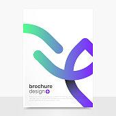Abstract Vector Brochure Templates. Creative Vector Brochure Mockup. Business Brochure