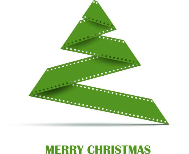 illustrazioni stock, clip art, cartoni animati e icone di tendenza di sfondo vettoriale albero di natale astratto - christmas movie