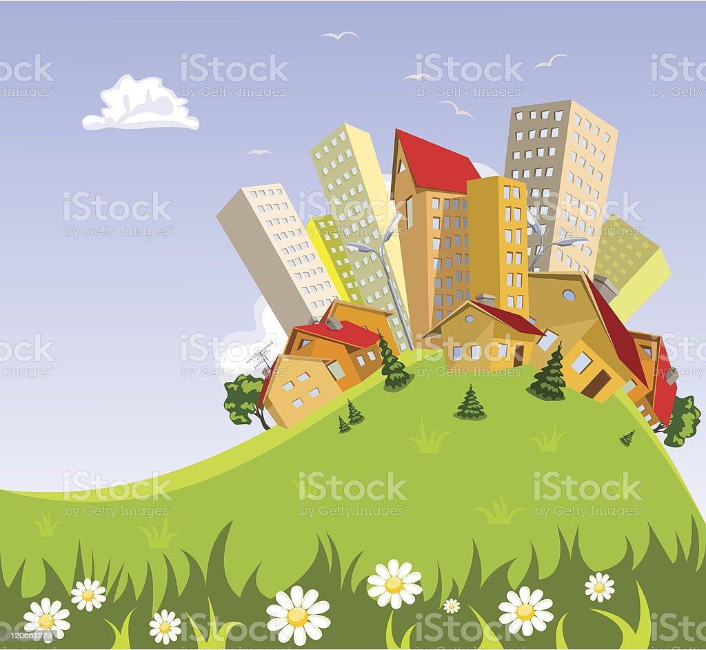 Abstract vector city royalty-free stock vector art