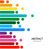 Abstract vector color background with empty place for text. Color lines with bright dots.