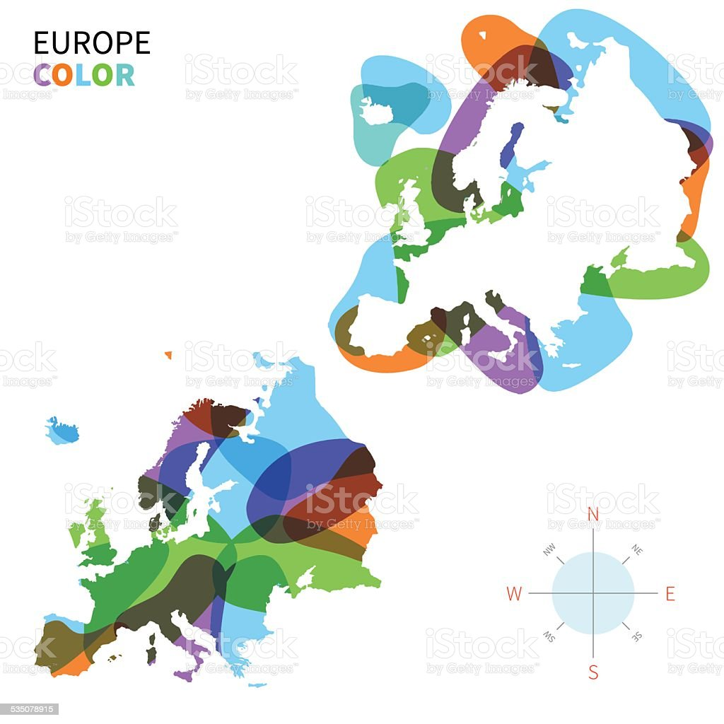 Picture of: Abstract Vector Color Map Of Europe With Transparent Paint Effect Stock Illustration Download Image Now Istock