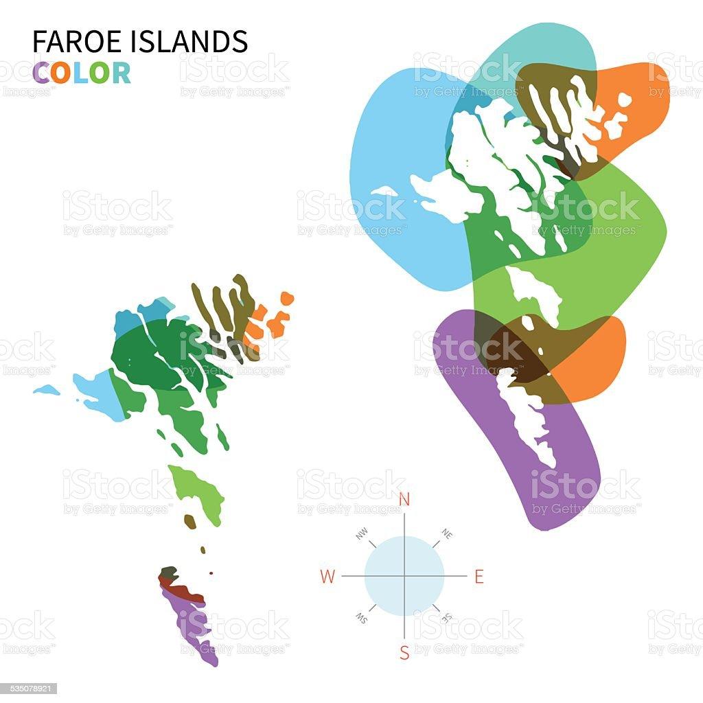 Färöer Inseln Karte.Abstrakte Vektor Farbe Karte Der Färöer Inseln Mit Transparenten
