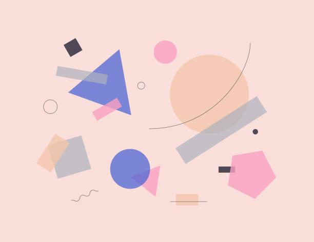 abstrakte komposition vektorgrafiken - bauhaus stock-grafiken, -clipart, -cartoons und -symbole