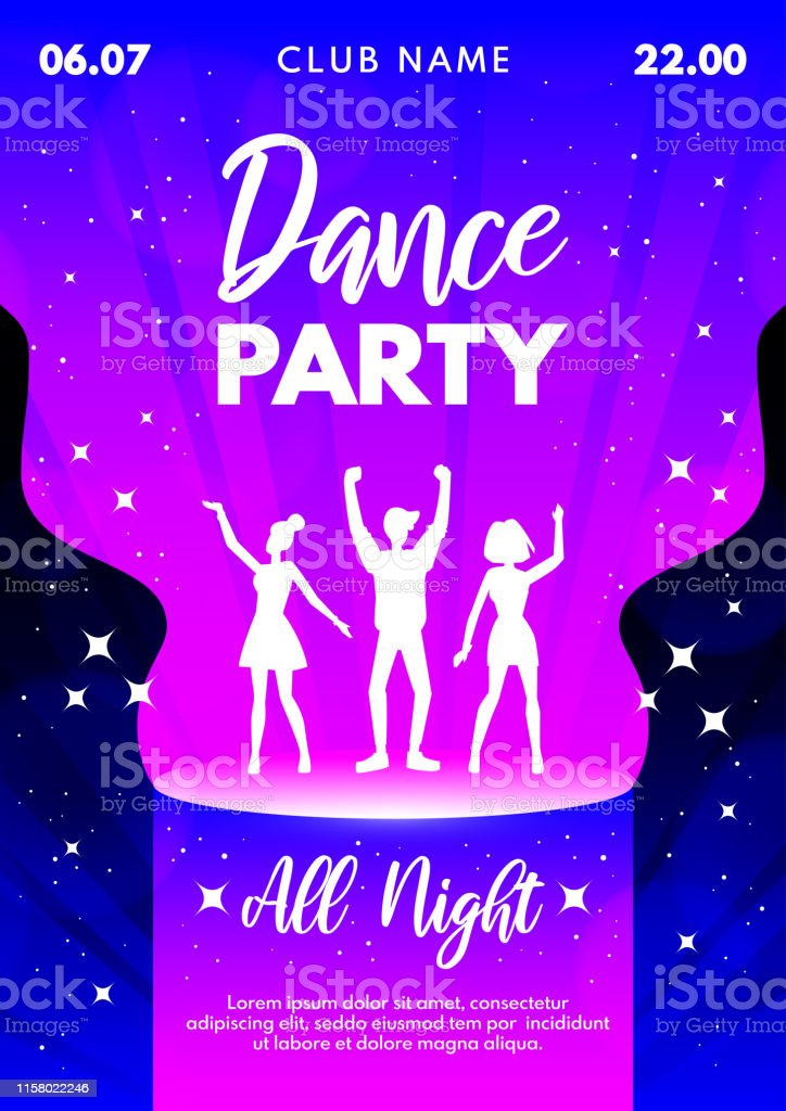 Abstract Vector Dance Party Background For Banner Flyer Poster Invitation Stock Illustration Download Image Now Istock