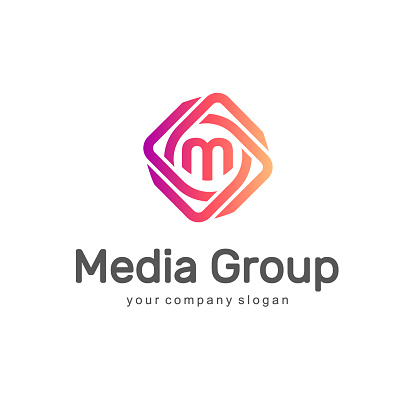 Abstract vector design element. Media Group.