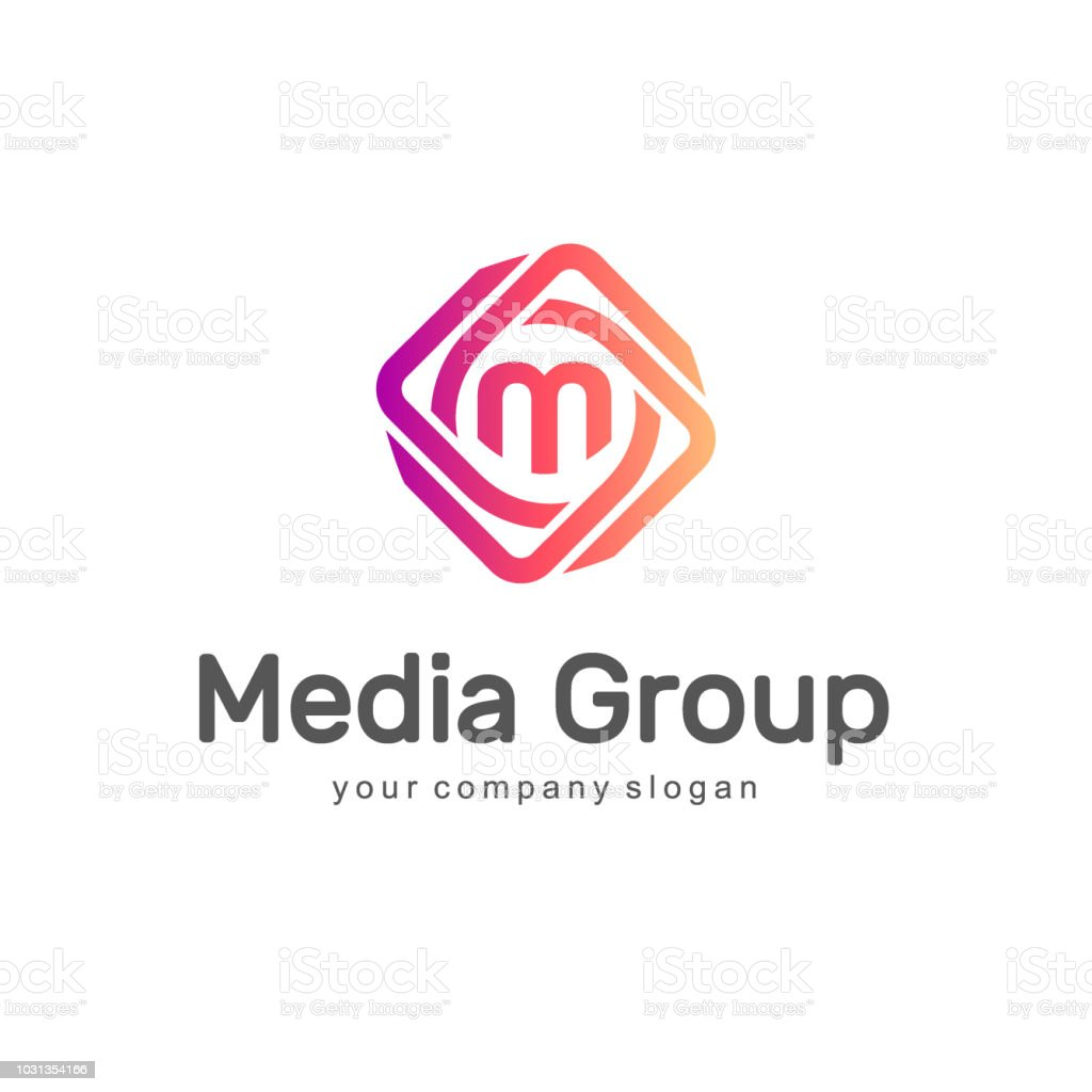 Abstract vector design element. Media Group. vector art illustration