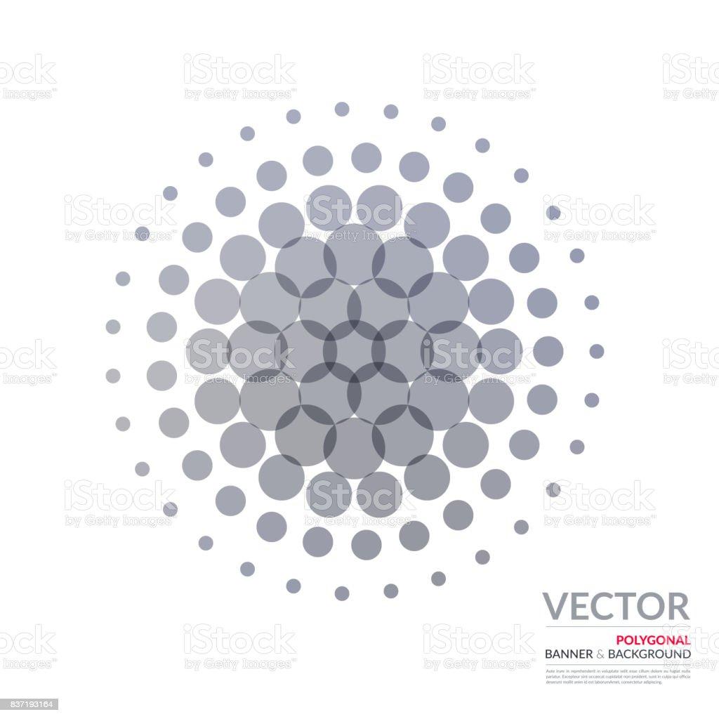 Diseño Vectorial Abstracto Gris Circular De Elementos De Plantilla ...