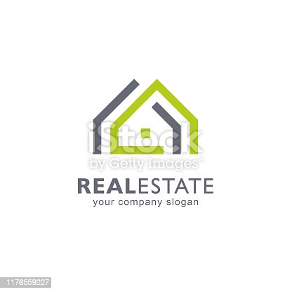 Abstract vector design template. Real estate icon.
