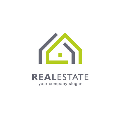 Abstract vector design template. Real estate icon.