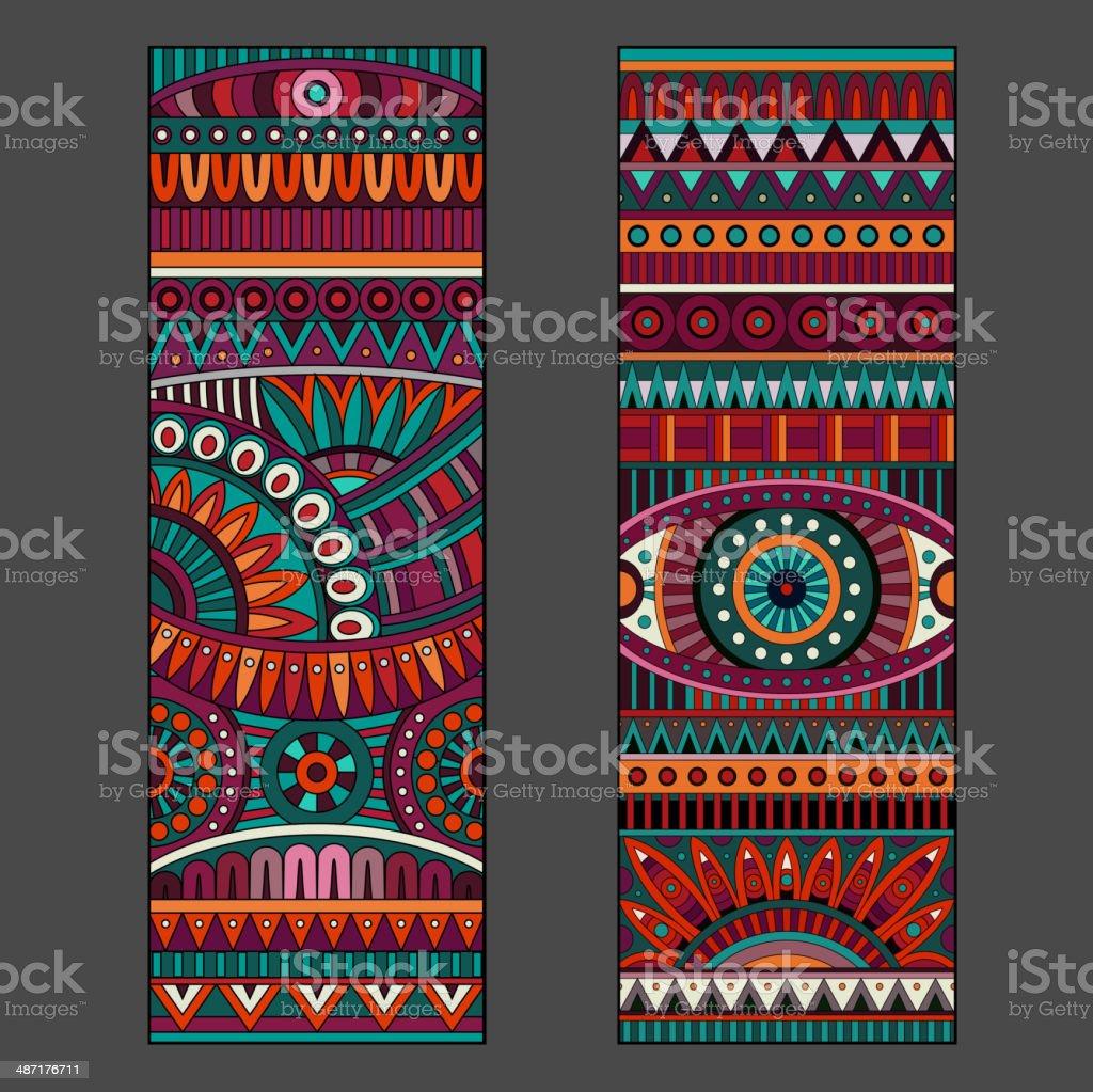 Abstract vector patrones étnico - ilustración de arte vectorial
