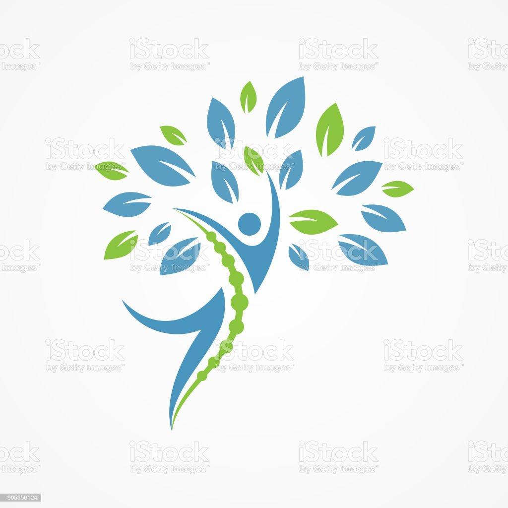 사람들은 나무와 의료 디자인 컨셉에 대 한 추상적인 벡터 - 로열티 프리 0명 벡터 아트