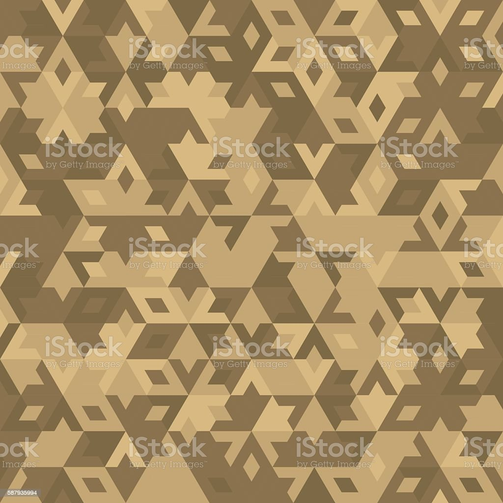 Abstract Vector Geometric Desert Seamless Background Royalty Free Stock