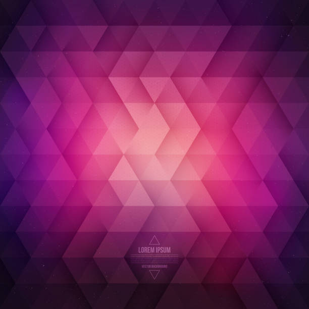 Abstract Vector Geometric Technological Purple Background vector art illustration