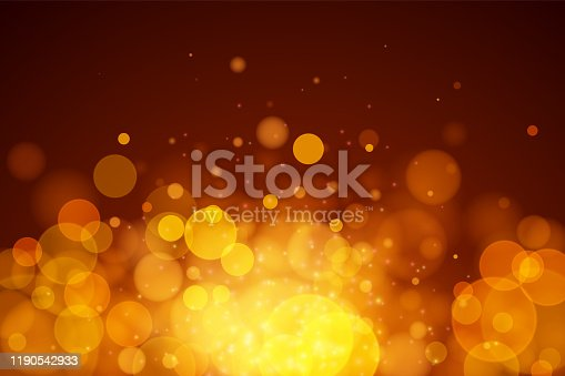 istock Abstract vector gold bokeh background. 1190542933