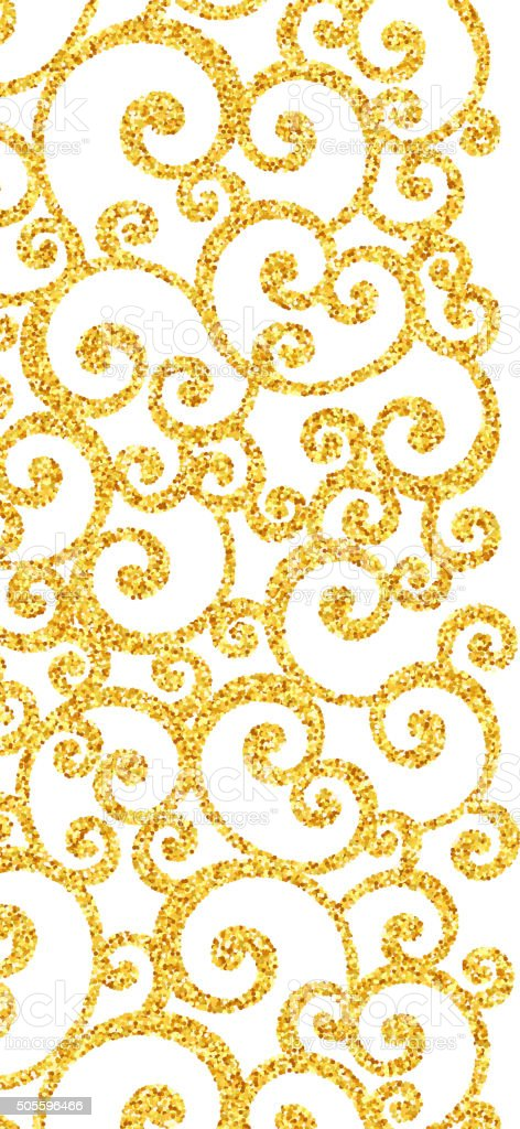 Abstract Vector Gold Dust Glitter Swirl Pattern Stock ...