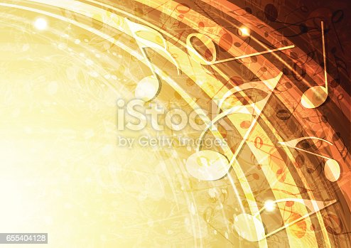 istock Abstract vector gold music background illustration 655404128