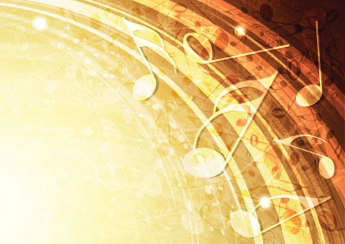 Abstract gold music vector background illustration. All elements can be easily removed if needed.