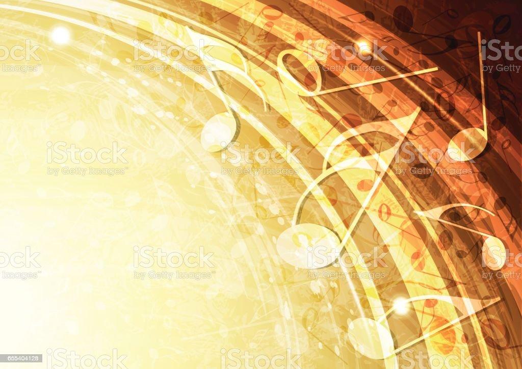 Abstract vector gold music background illustration vector art illustration