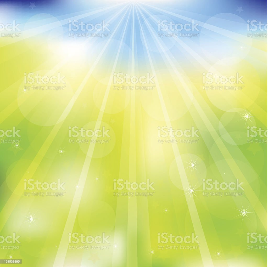 Abstract Vector Green And Blue Background royalty-free stock vector art