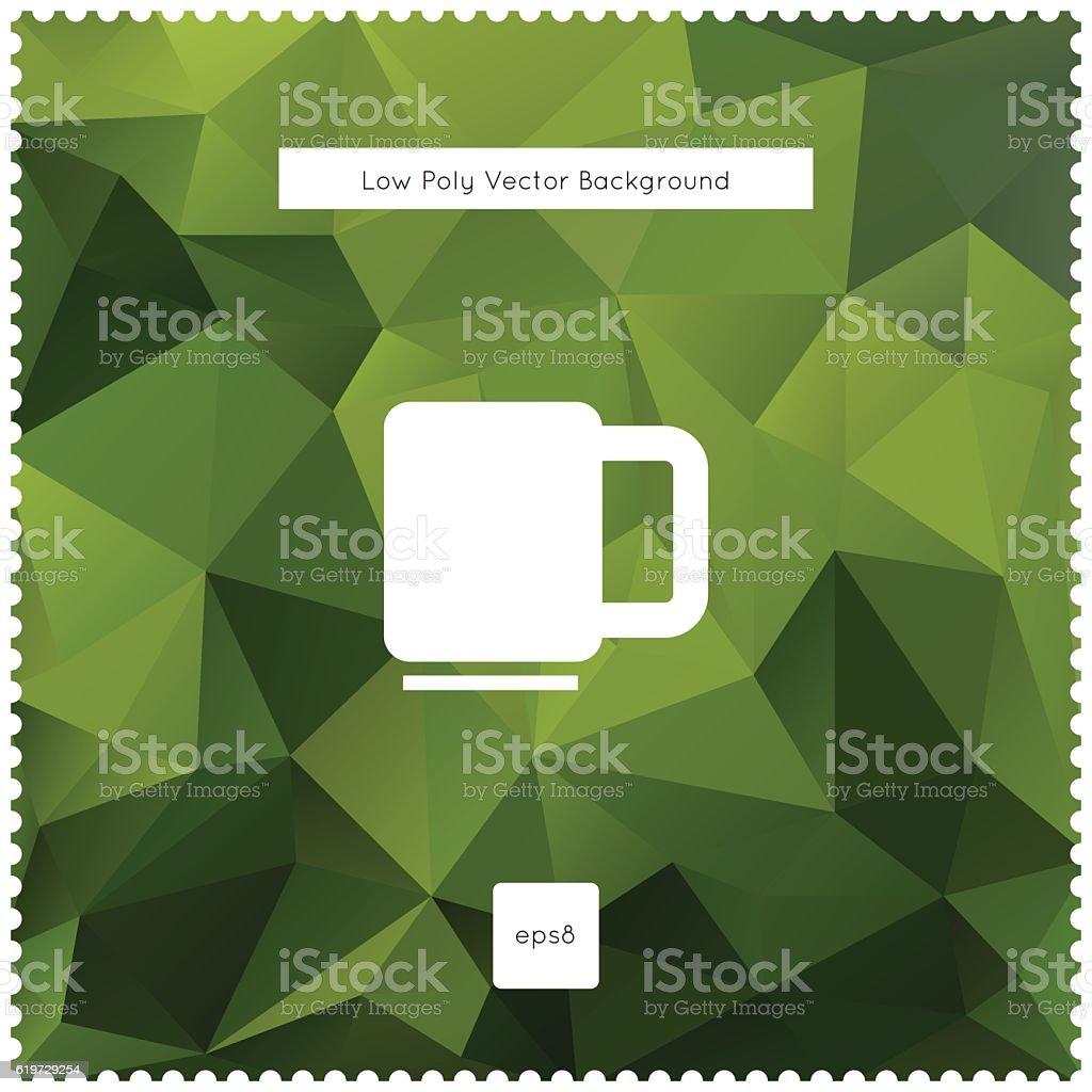 Abstract vector green tea polygonal background. vector art illustration