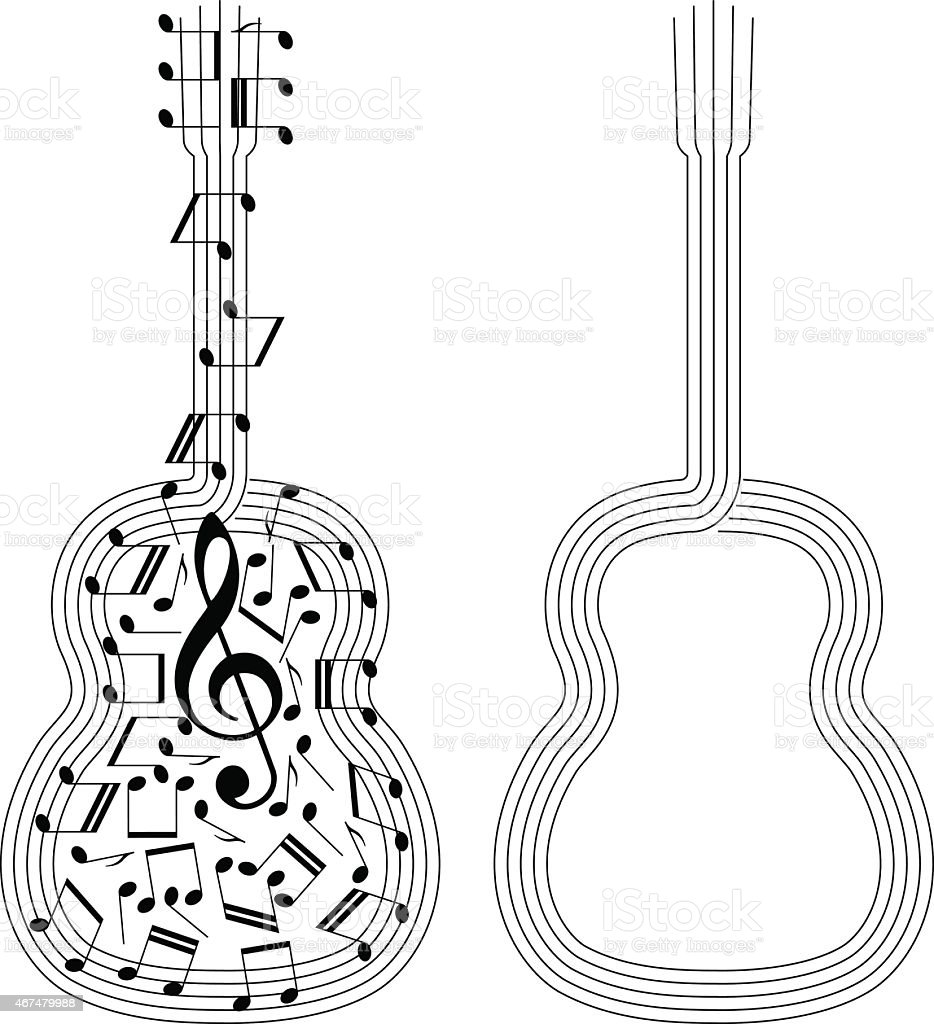Abstract Vector Guitar Royalty Free Stock Art Amp More Images