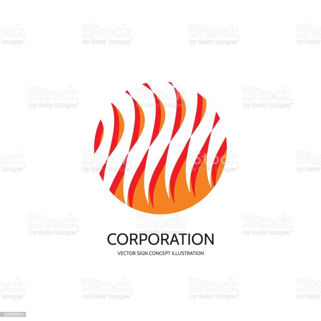 Abstrakten Symbol Vorlage Konzept Vektorgrafik Feuer Flamme Zeichen ...