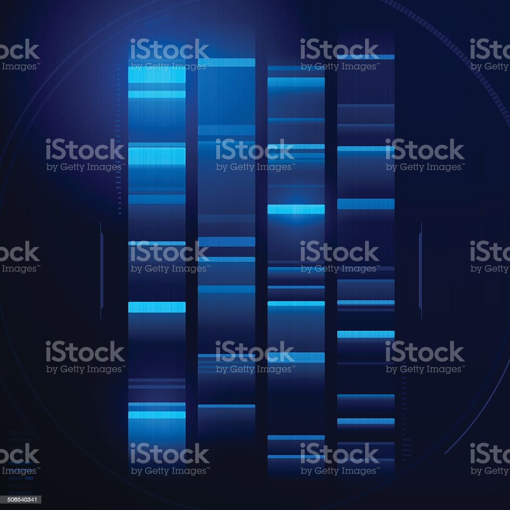 DNA Abstract vector art illustration
