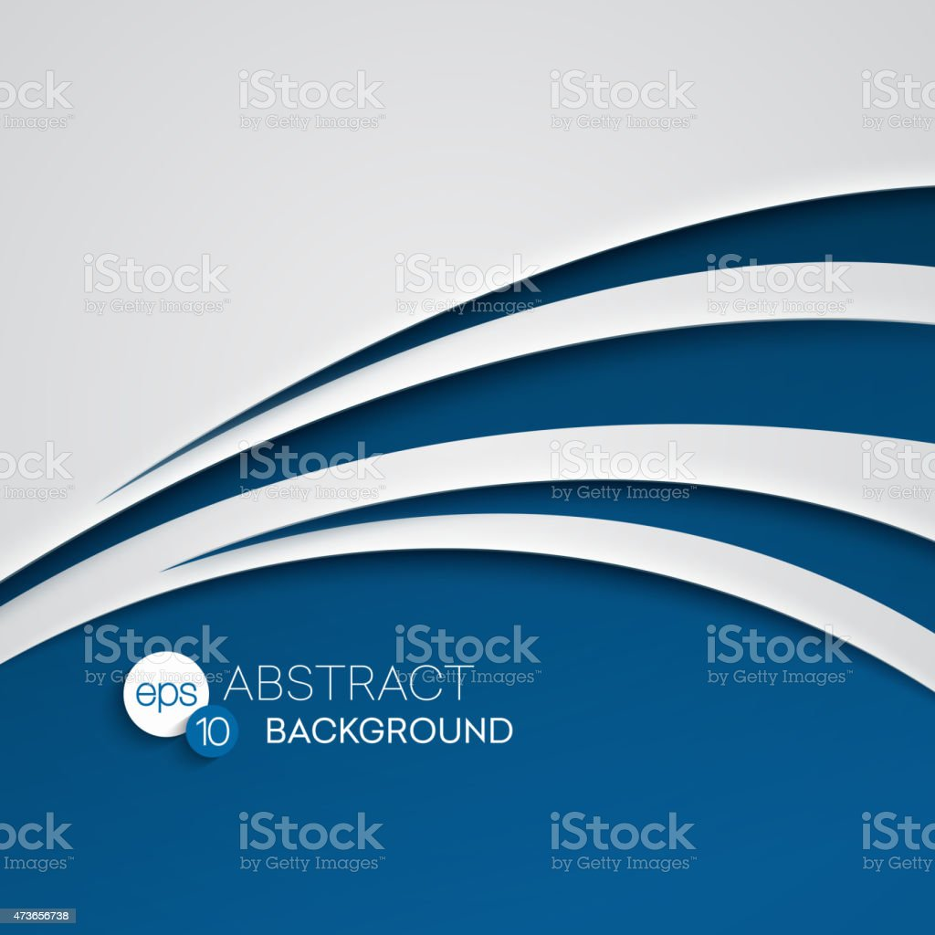 Abstract vector illustration background of a blue wave vector art illustration