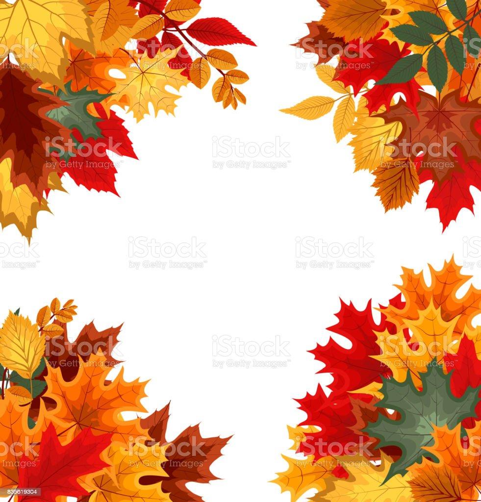 立ち下がり秋 leav と抽象的なベクトル イラスト背景 のイラスト素材