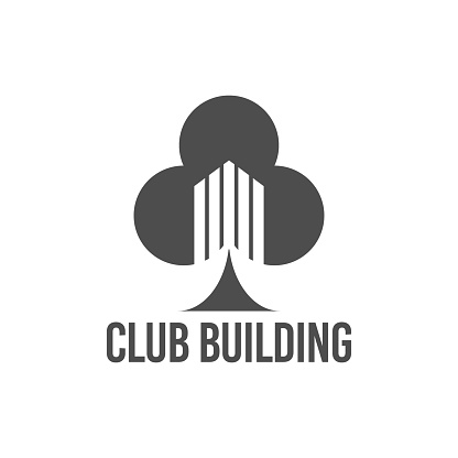 Abstract Vector Illustration Club Tree Building Icon Logo