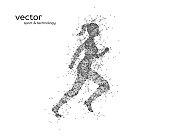 Abstract vector illustration of running woman.