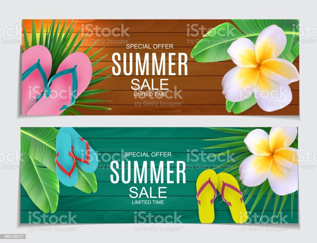 Abstract Vector Illustration Summer Sale Background abstract vector illustration summer sale background - stockowe grafiki wektorowe i więcej obrazów baner royalty-free