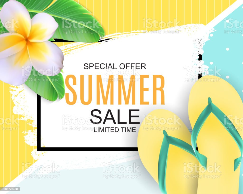 Abstract Vector Illustration Summer Sale Background - Royalty-free Backgrounds stock vector
