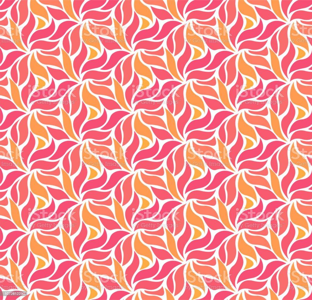 Ilustração em vetor abstrato com flor. Padrão geométrico sem emenda. - ilustração de arte em vetor