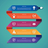 Abstract vector infographic template in flat style