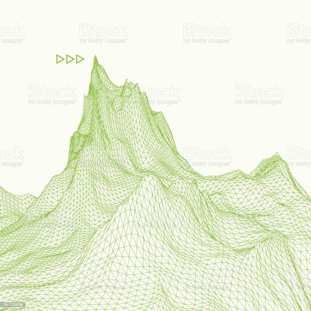 Ilustración de Resumen De Vectores Fondo Con Paisaje Ciberespacio ...