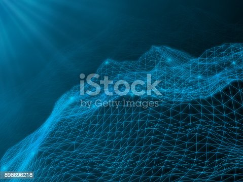 655864390 istock photo Abstract vector landscape background. 898696218
