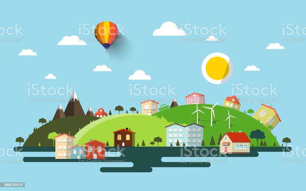 Abstract Vector Landscape vector art illustration