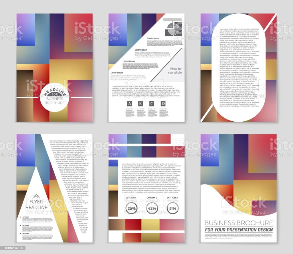 Abstract Vector Layout Background Set For Art Template
