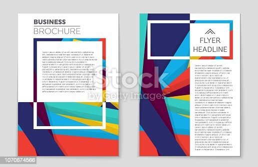 istock Abstract vector layout background set. For art template design, list, front page, mockup brochure theme style, banner, idea, cover, booklet, print, flyer, book, blank, card, ad, sign, sheet, a4 1070674566