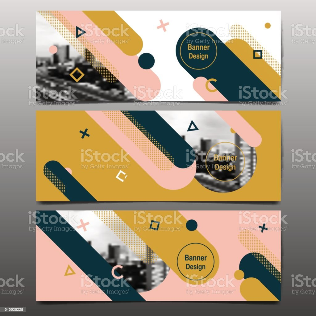 Abstract vector layout background set. template design. vector art illustration
