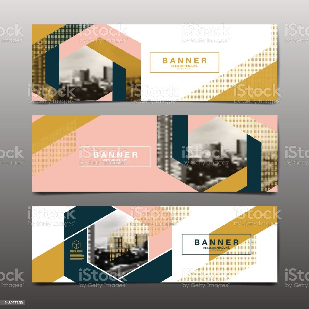 Abstract vector layout background set. vector art illustration