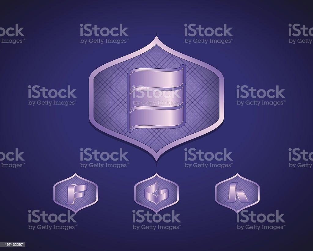 Abstract Vector Logo Design Template royalty-free stock vector art