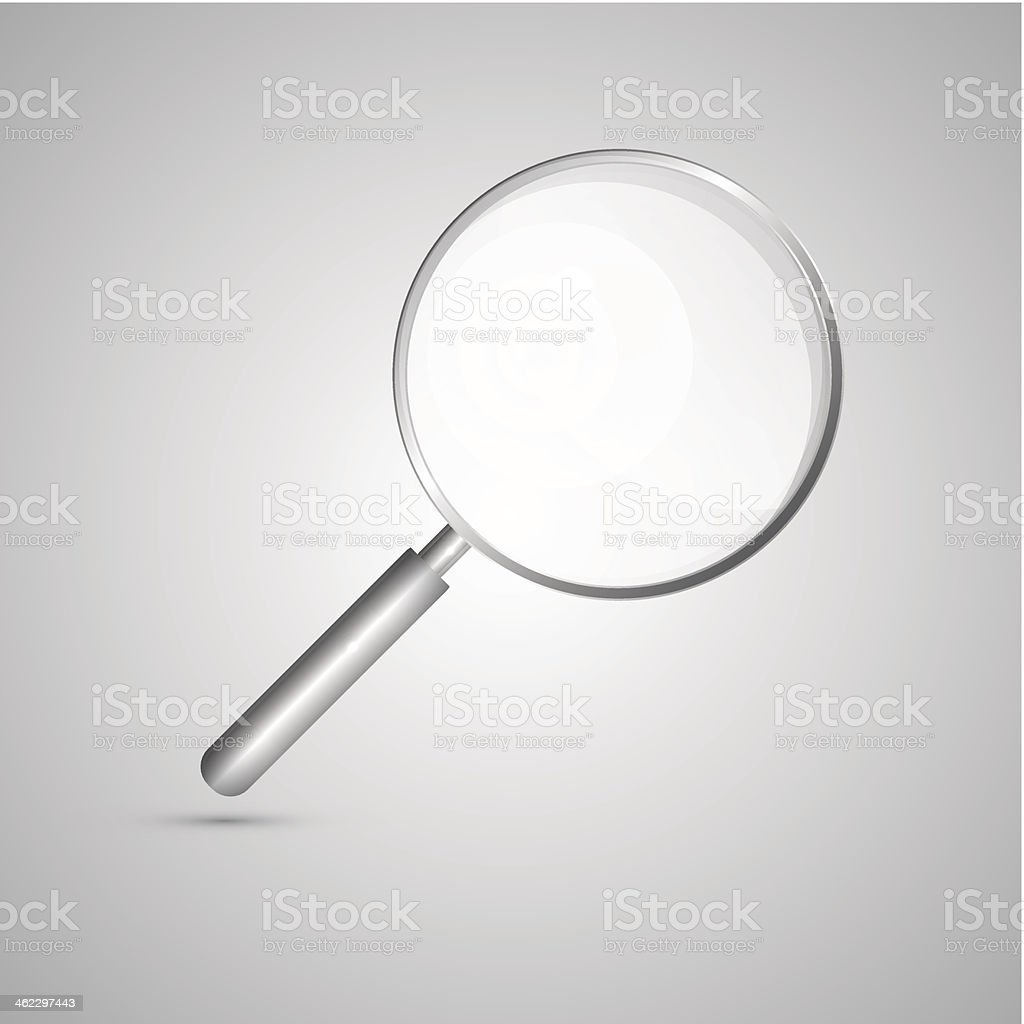 Abstract Vector Magnifying Glass royalty-free stock vector art