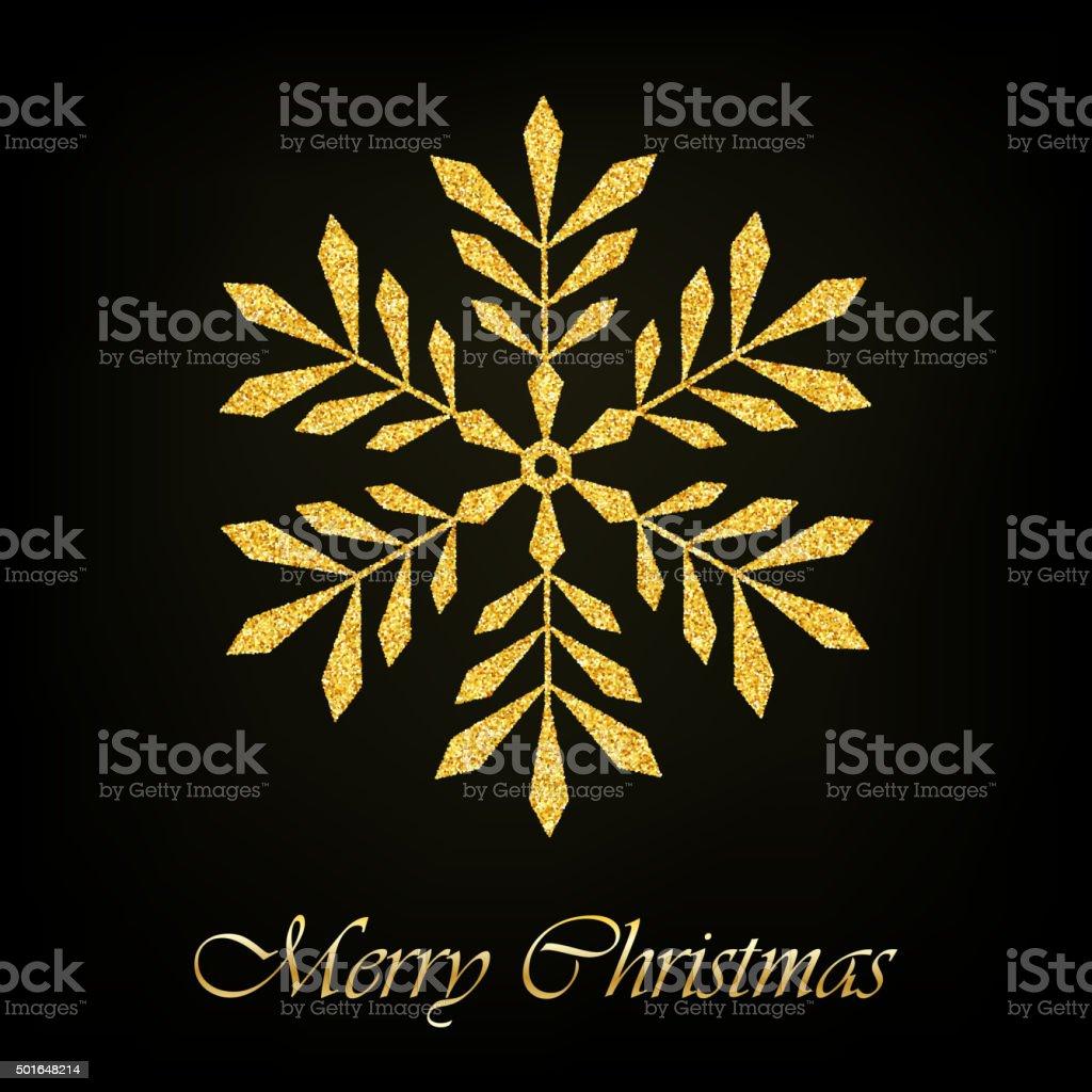 Buon Natale Glitter.Sfondo Vettoriale Buon Natale Sfondo Con Fiocchi Di Neve Glitter Oro