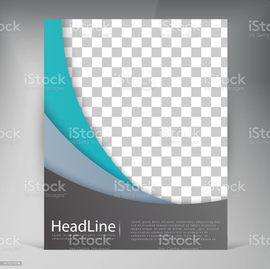 Abstract vector modern flyers brochure. vector art illustration