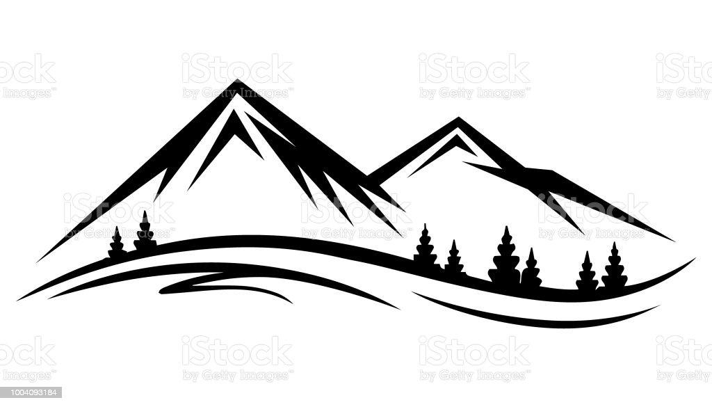 Abstract Vector Nature Or Outdoor Mountain Range ...
