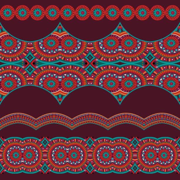 Abstrakte Vektor Ornament-ethnischen nahtlose Streifen – Vektorgrafik