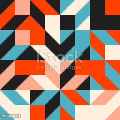 Geometric artwork design with simple shapes and figures. Abstract pattern graphics with geometrical forms and elements. Perfect for web banner, business presentation, branding package, fabric print.