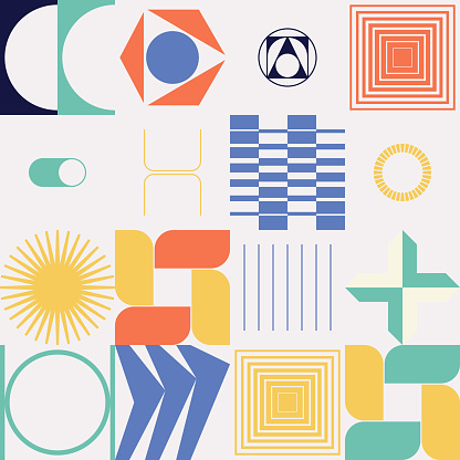 Abstract Vector Pattern Design Elements